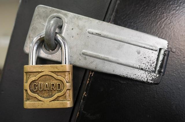 door security padlock by David Goehring on Flickr